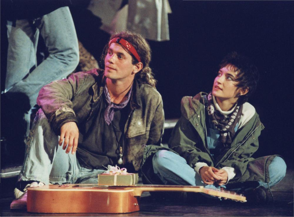 K. Groniec i R.Janowski w musicalu Metro